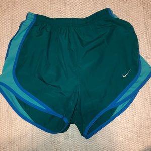 Nike blue and turqoise Athletic Shorts